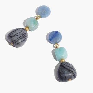 NWT Madewell Stacked Stones Statement Earrings